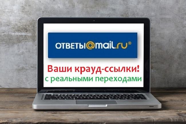 Классные живые ссылки на Ваш сайт с сервиса Ответы.Mail.ru 1 - kwork.ru