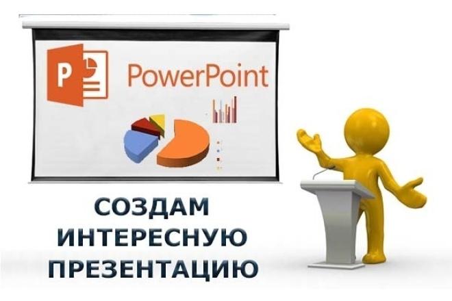 Сделаю запоминающуюся презентацию в PowerPointПрезентации и инфографика<br>Сделаю качественную, запоминающуюся презентацию в PowerPoint - с анимацией или без неё. По Вашему желанию – уникальный фон, анимация, музыка, озвучка, графики, диаграммы. При необходимости – поиск подходящих картинок. Будет выдержана одна дизайнерская концепция. Адаптирую текст для слайдов. Буду рада сотрудничеству!<br>