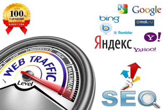 Качественный трафик с сеансами посещений до 5 минут 1 - kwork.ru