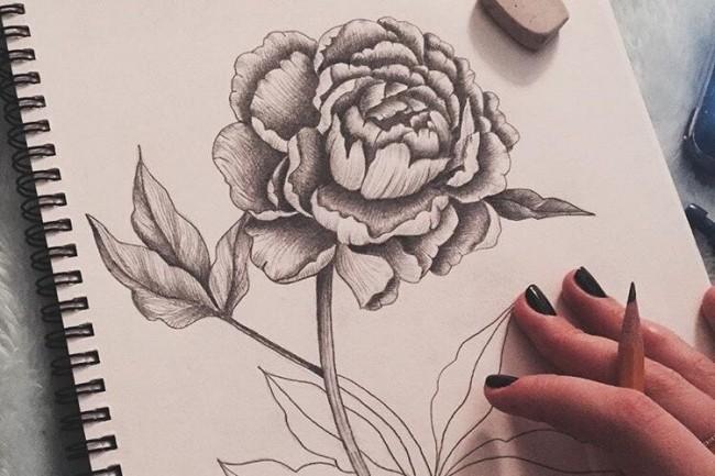 Эскиз, иллюстрация, скетч в ручной технике 1 - kwork.ru