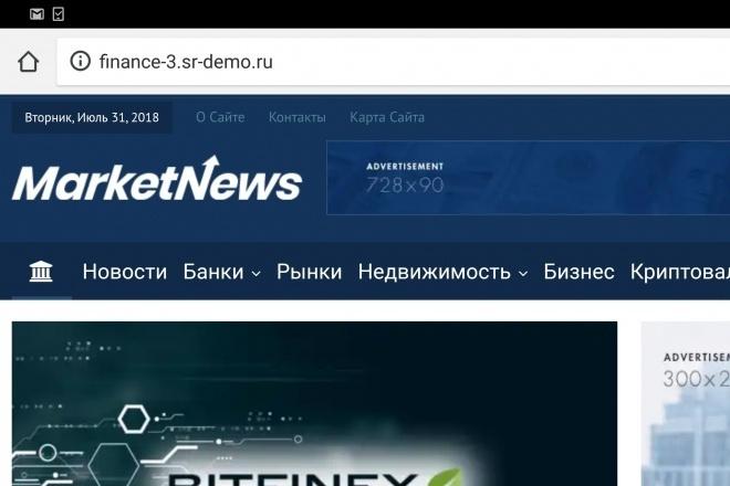 Автонаполняемый финансово новостной сайт 11 - kwork.ru