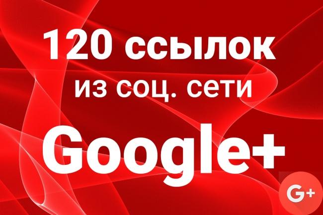 120 ссылок с разных аккаунтов Google+ 1 - kwork.ru
