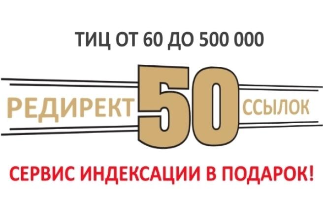 50 отборных редирект-ссылок с ТИЦ до 500 000 1 - kwork.ru