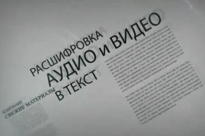 Транскрибация аудио и видео материалов ( перевод в текст) 1 - kwork.ru