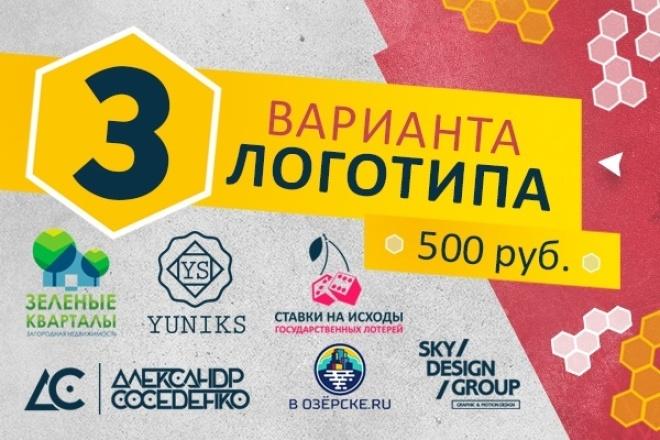 3 варианта дизайна логотипа 1 - kwork.ru