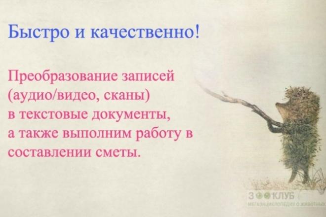 Преобразование записей, аудио, видео, сканы, в тексты. Редактирование 1 - kwork.ru