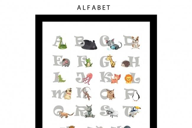 Создам алфавит для малыша 1 - kwork.ru