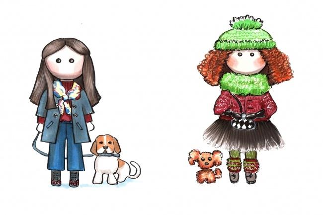 Рисунок куклы Тильда 1 - kwork.ru