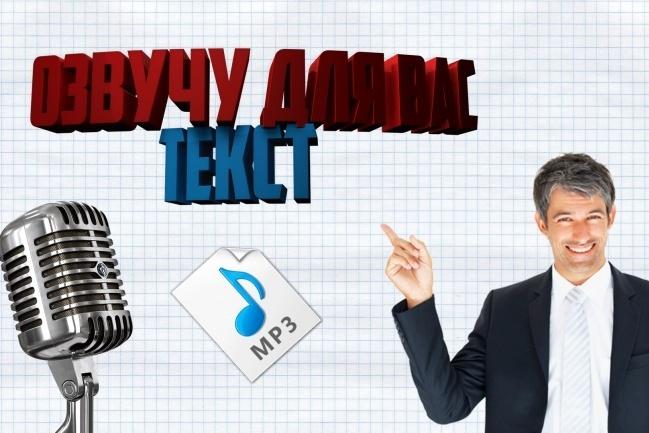 Озвучу ваше видео или текст 1 - kwork.ru