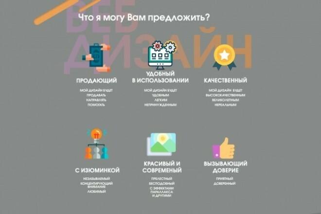 Продающий и удобный дизайн Лендинга. Налетай 1 - kwork.ru