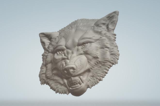 Готовая 3d модель головы волка 1 - kwork.ru