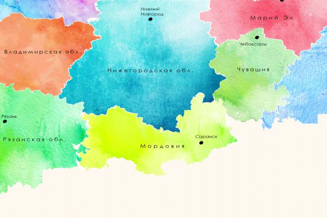 Сделаю карту местности в произвольном дизайне 1 - kwork.ru