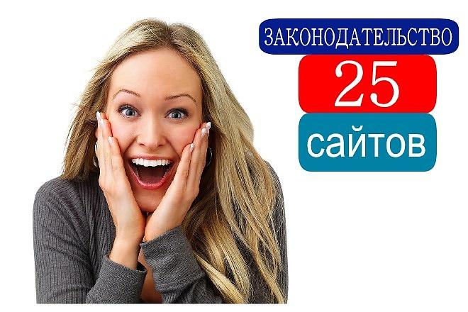 Продам 25 сайтов о Законодательстве за 500 рублей с бонусом 1 - kwork.ru