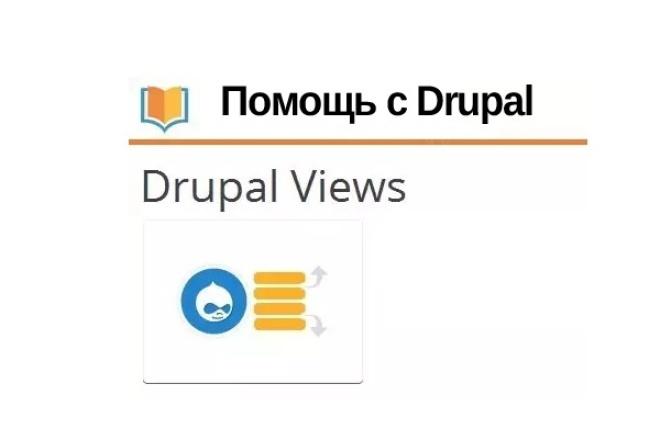 Помогу с Drupal. Создам представление Views 1 - kwork.ru