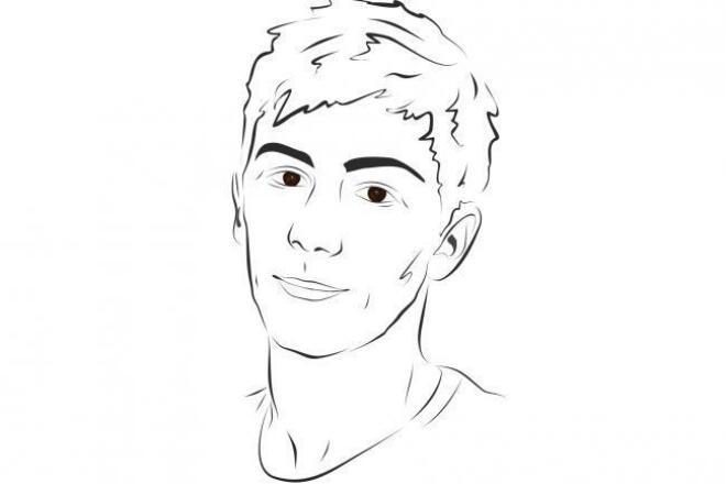 Силуэтный портретИллюстрации и рисунки<br>Быстро сделаю простой силуэтный портрет-скетч. Такие портреты отлично подойдут для печати на футболке или кружке. Сделайте уникальный подарок любимому человеку!<br>