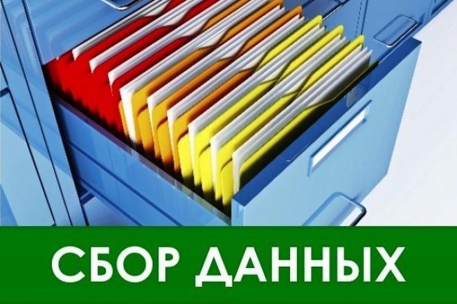 Соберу вручную базу данных по вашему запросу 1 - kwork.ru