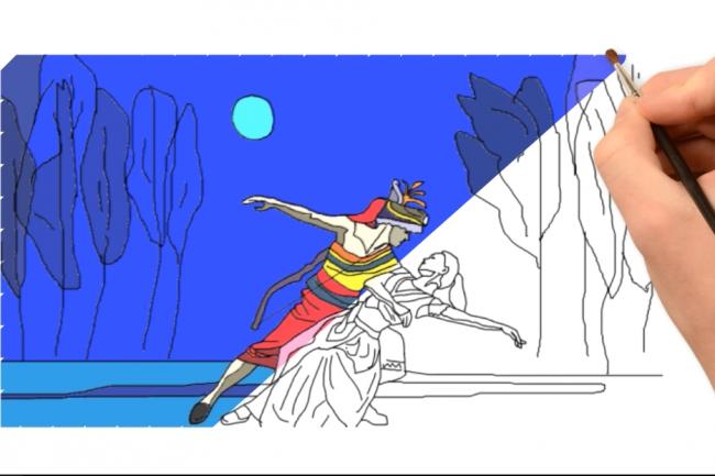 6 секунд рисованного видео с уникальными цветными картинками. Акция 1 - kwork.ru