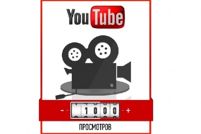 1000 просмотров на YoutubeПродвижение в социальных сетях<br>Получите 1000 просмотров на видео в Youtube, накрутка происходит в течение дня. Так же смотрите допы.<br>