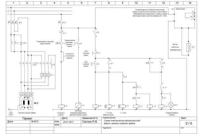 Спроектирую электросхему под вашу промышленную электроустановкуИнжиниринг<br>Проектирование новых и модернизация старых электросхем промышленного и бытового электрооборудования в соответствии с вашим техзаданием. От вас точное описание алгоритма работы электроустановки, технологическая, механическая и электрическая схема существующего оборудования. Сложность от распределительного устройства до промышленного контроллера.<br>