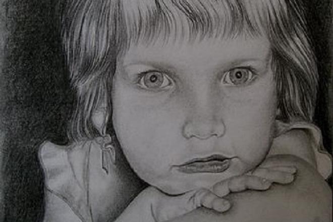 Напишу ваш портрет карандашом 1 - kwork.ru