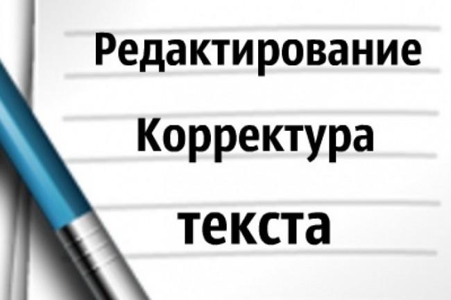 Редактирование и корректура текстов и книг 1 - kwork.ru
