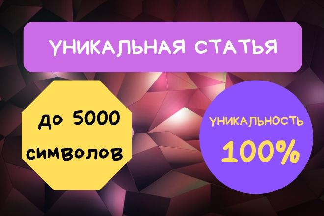 Напишу одну качественную статью объемом до 5000 знаков 1 - kwork.ru