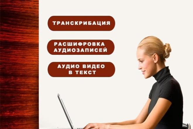 Напечатаю текст с аудио или видео файла 1 - kwork.ru