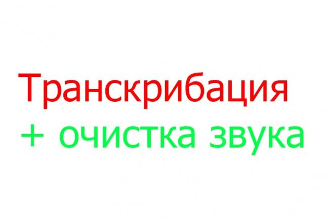 Транскрибация, расшифровкаНабор текста<br>Выполню транскрибацию аудио и видео материалов на русском языке. Время выполнения до 1 часа за день.<br>