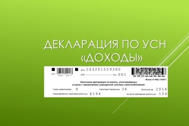 Составление декларации по УСН 1 - kwork.ru