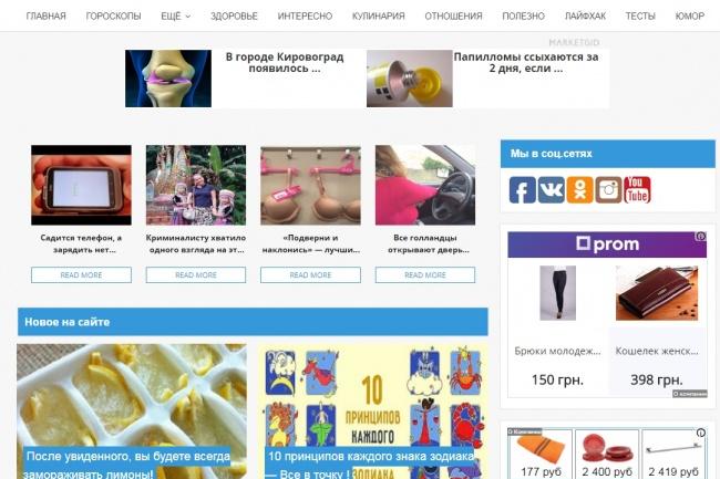 Сайт мужской и женской тематики 1 - kwork.ru