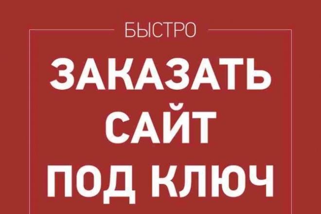 Создам сайт под ключ. По Вашим требованиям и заданию 1 - kwork.ru