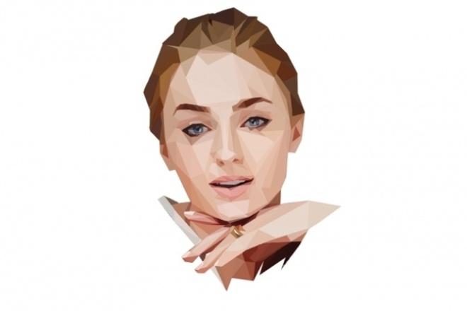 Создам ваш портрет в технике low poly 1 - kwork.ru