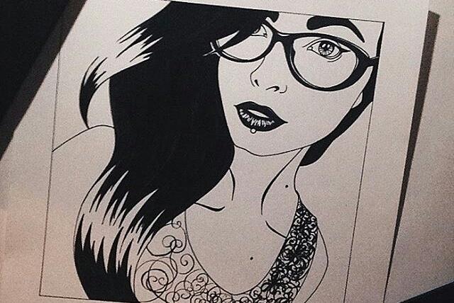 Портрет -ГрафикаИллюстрации и рисунки<br>Нарисую для Вас портрет в графике по фотографии. По вашему пожеланию придумаем фантазийный образ ( или же Вас с образе какого-нибудь героя комикса, фильма, мультика и т. п. ) Размер А4<br>