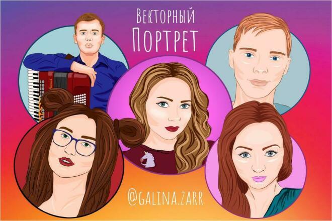 Портрет по Фото 1 - kwork.ru
