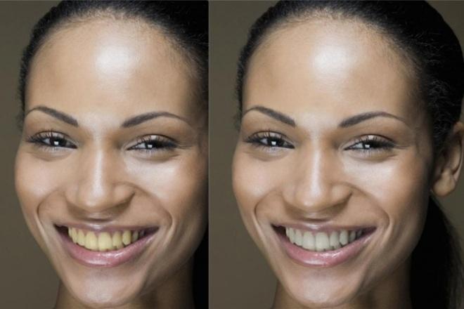 Отбелю Вашу улыбку на фотоОбработка изображений<br>Заметили, что на Вашей удачной фотографии не совсем белоснежная улыбка? Я отбелю Ваши зубы на 5 фото в короткие сроки.<br>
