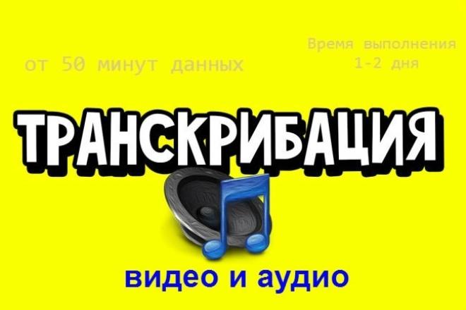 Транскрибация, перевод видео, аудио в текст 1 - kwork.ru