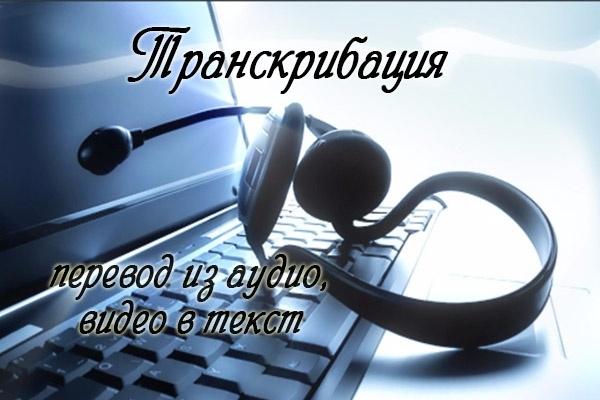 Транскрибация. Перевод аудио в текстПереводы<br>Оказываю услуги: транскрибация - перевод аудио или видео в текст. Один кворк - запись до 60-ти минут.<br>