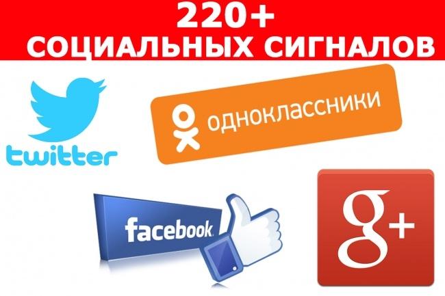 Вручную 220 Социальных Сигналов на Ваш сайт 1 - kwork.ru