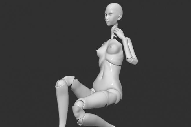 Создам 3d модель шарнирной куклы под печать на 3d принтере 1 - kwork.ru