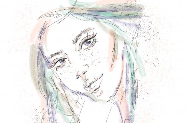 Сделаю иллюстрацию в стиле fashion-скетча 1 - kwork.ru