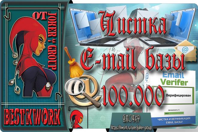 Чистка E-mail базы до 100.000 адресов от команды Joker-Group 1 - kwork.ru