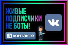 Безопасно. 500 живых участников в группу в ВК 7 - kwork.ru