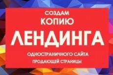Сделаю копию одностраничного сайта 18 - kwork.ru