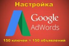 Настройка поисковой РК в Google Adwords 24 - kwork.ru