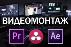 Монтаж, нарезка, склейка, наложение звука на видео 59 - kwork.ru