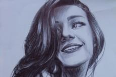 Карандашный рисунок ручкой, Перерисовка с изображения на лист 11 - kwork.ru