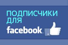 200 подписчиков с фильтрами в паблик Facebook. Не группа. Гарантия 11 - kwork.ru
