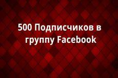 250 подписчиков в сообщество Facebook 22 - kwork.ru