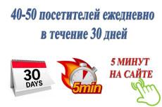180-200 посетителей на сайт ежедневно в течение месяца 40 - kwork.ru