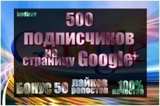 Google+ - подписчики на Ваши страницы закругление, 100 подписчиков 6 - kwork.ru
